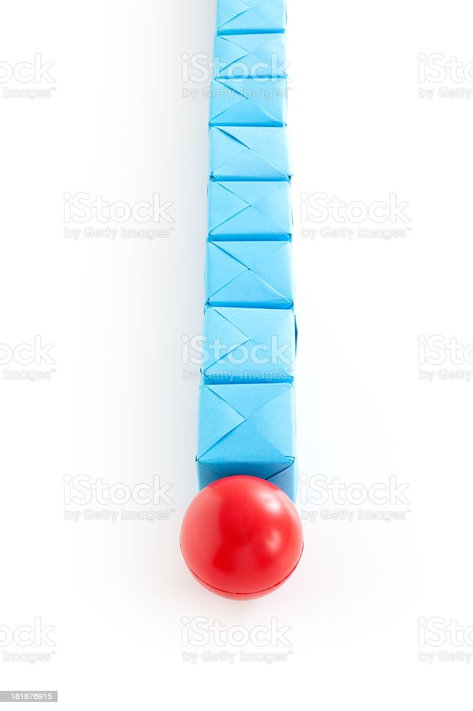 Ball and cubes line royalty-free stock photo
