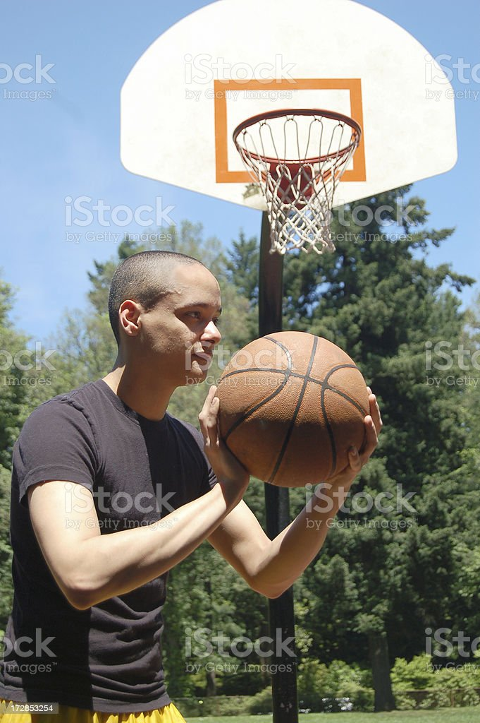Ball and Hoop stock photo