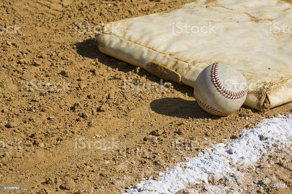 Ball and Line royalty-free stock photo
