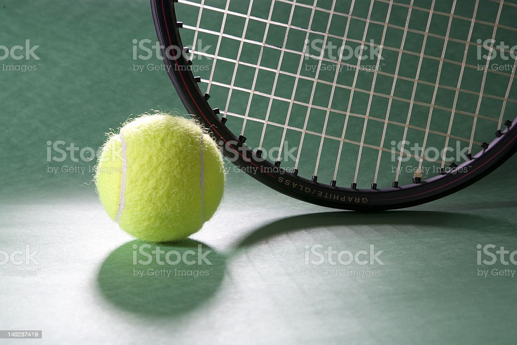 Ball and Racket royalty-free stock photo