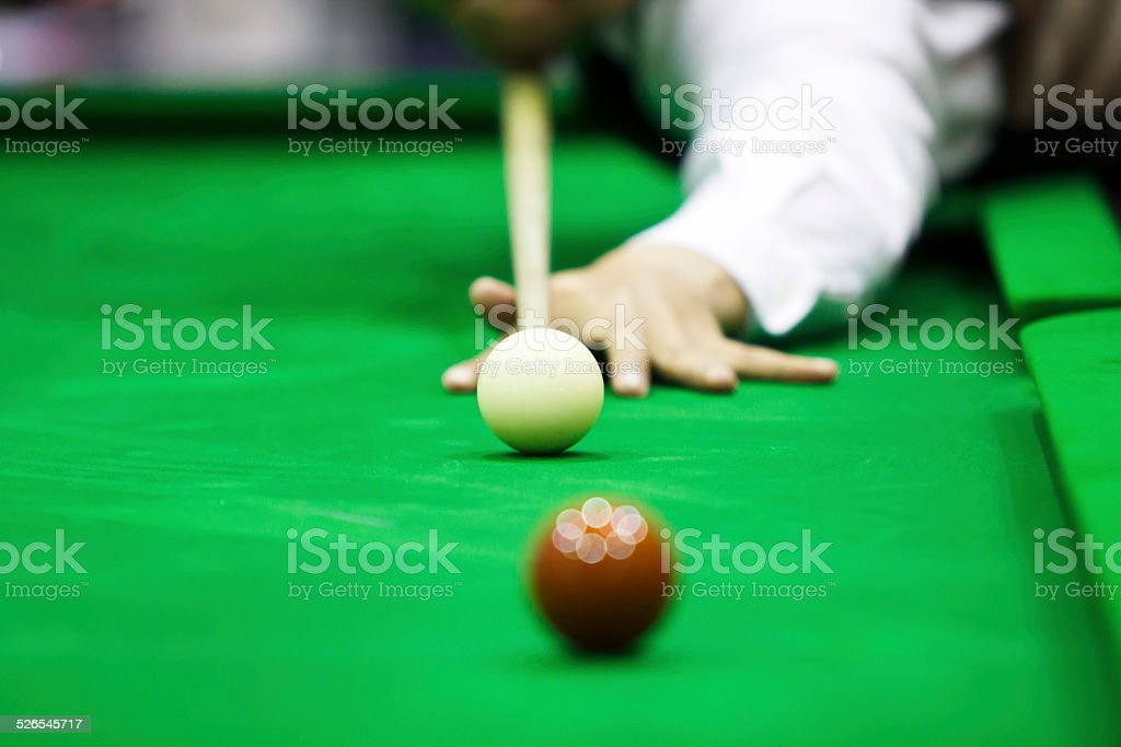 Ball and Snooker Player stock photo