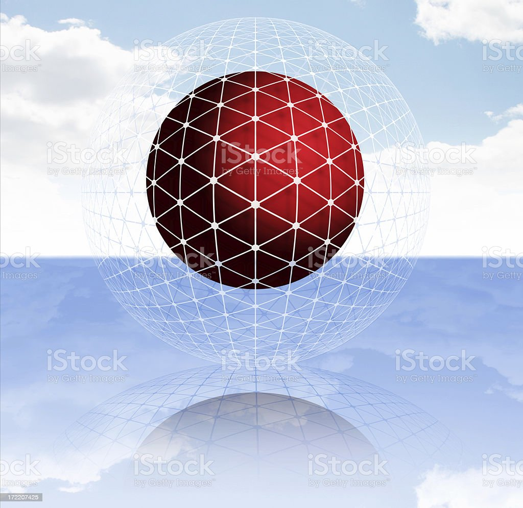 Ball and Sphere royalty-free stock photo