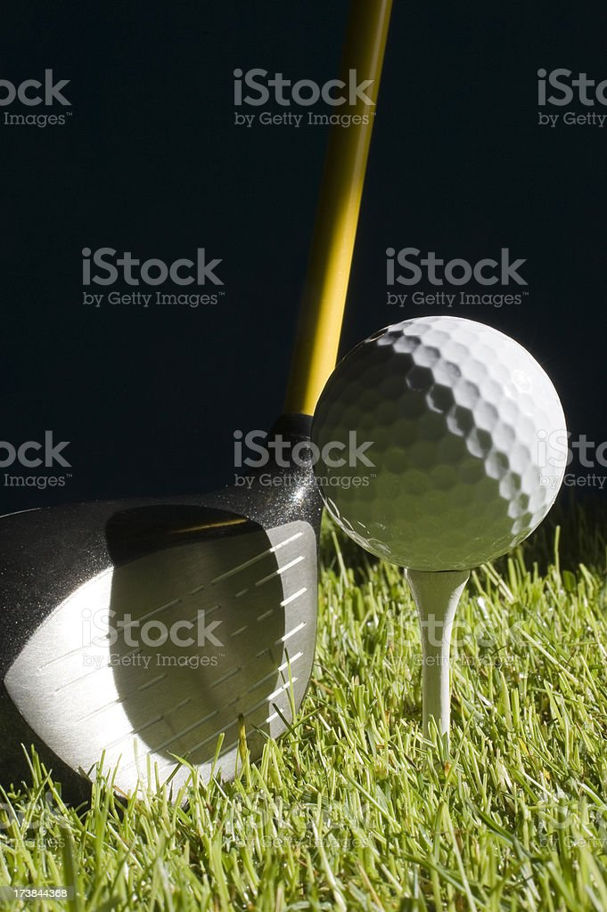 Ball and stick(wood) of golf. stock photo