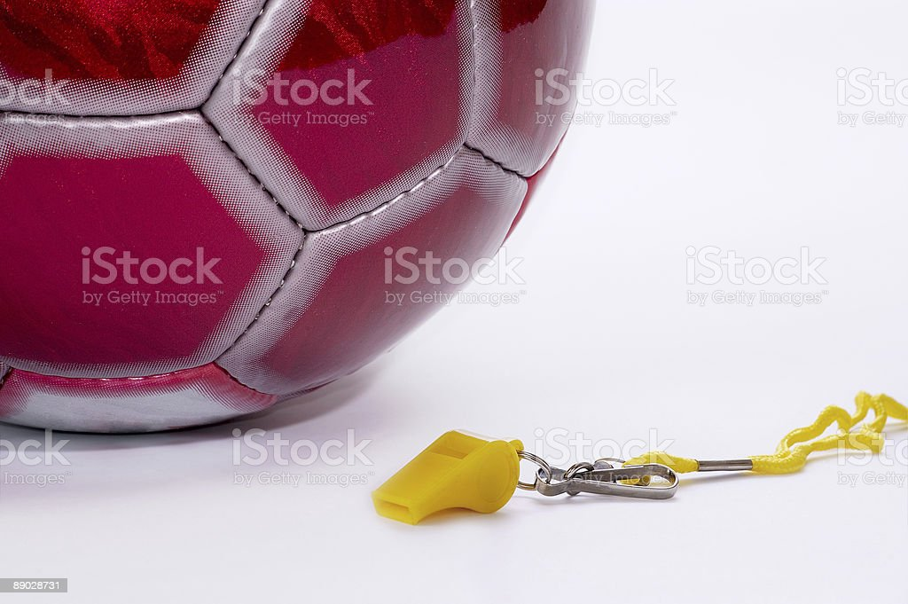 Ball and whistle. stock photo
