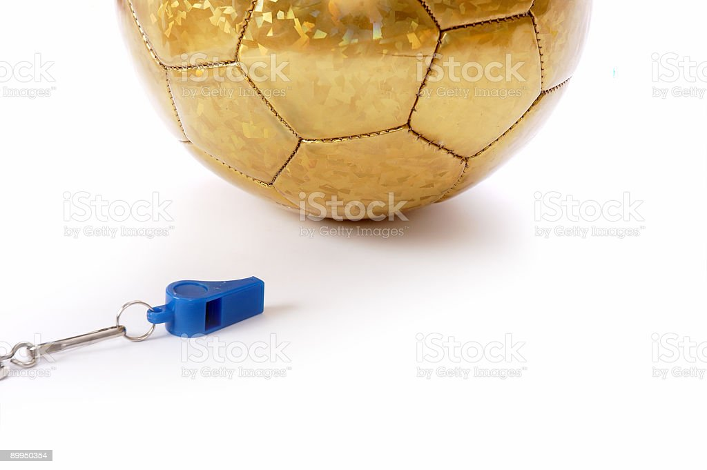 Ball and whistle stock photo