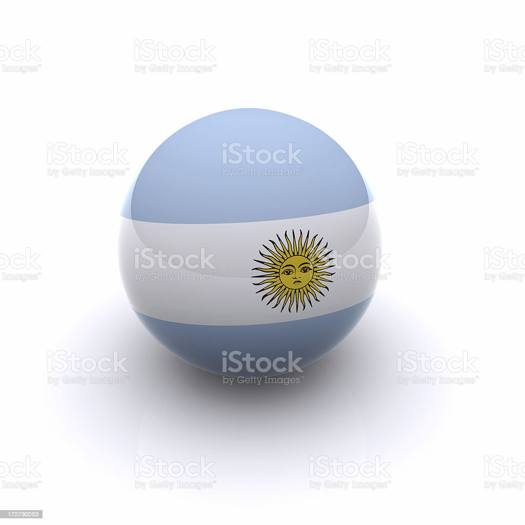 3D Ball - Argentina Flag royalty-free stock photo