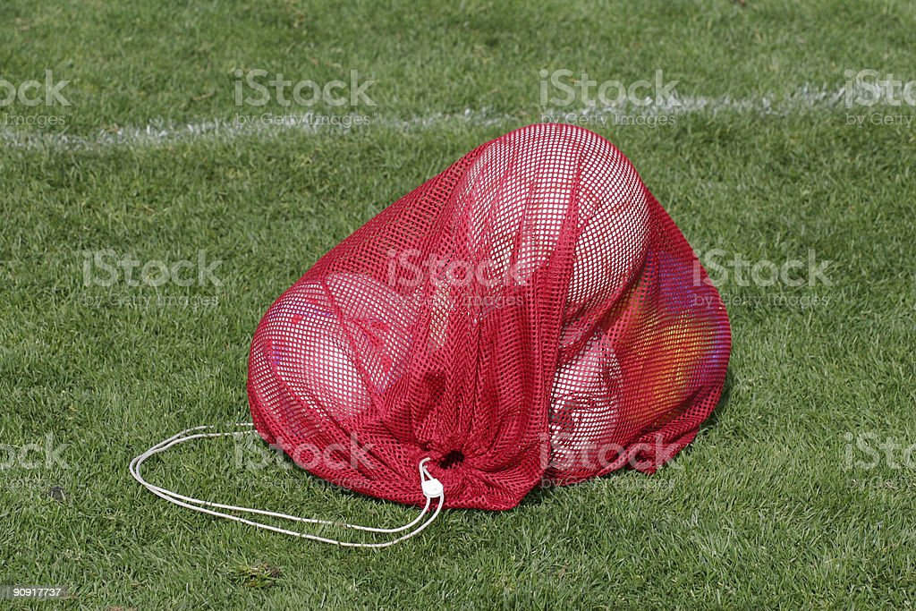 Ball Bag Red royalty-free stock photo