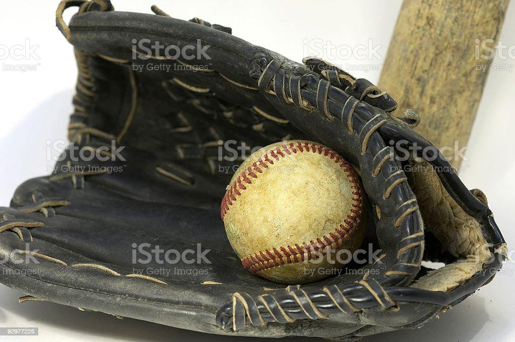 ball bat glove royalty-free stock photo