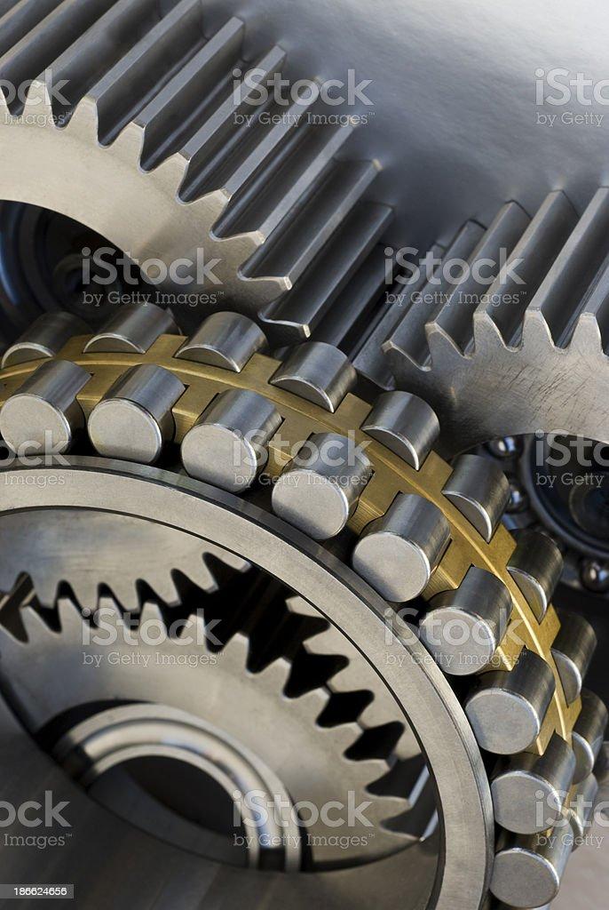 ball bearing and gear royalty-free stock photo
