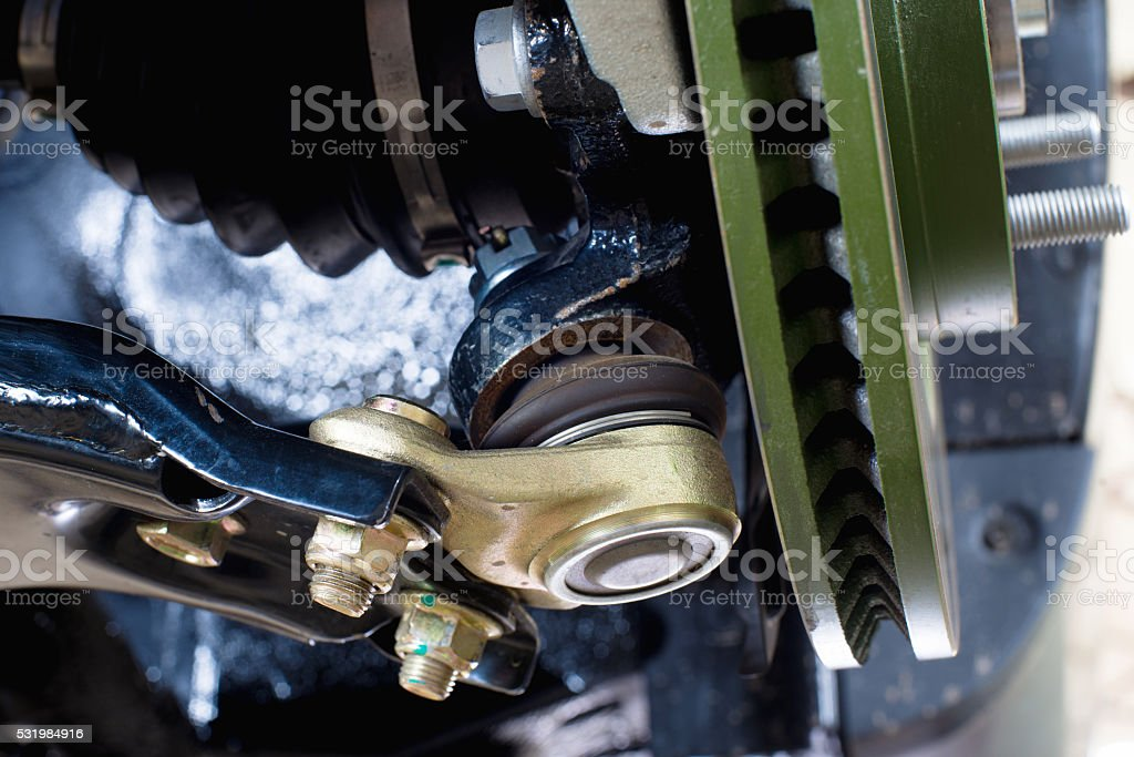 ball bearing car suspension stock photo