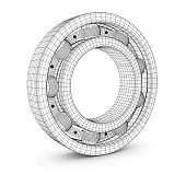 Ball bearing in a cut