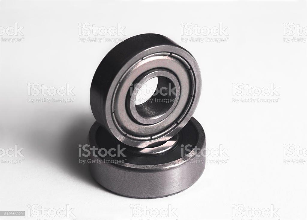 Ball bearing on white stock photo