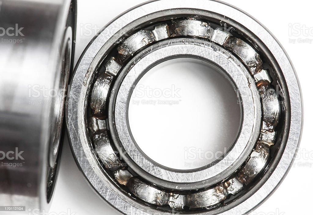 Ball bearing over white background royalty-free stock photo