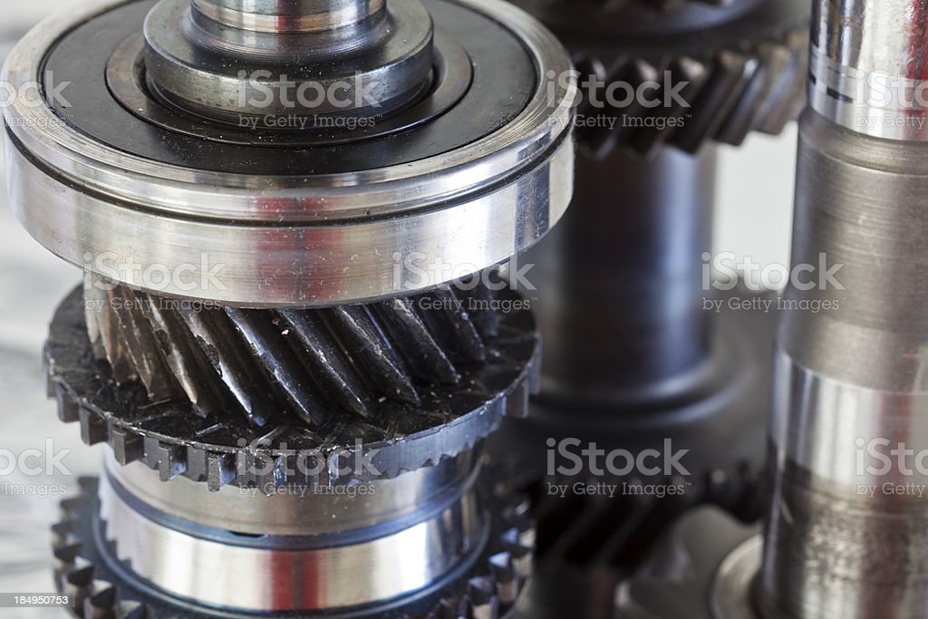 Ball bearings and gears royalty-free stock photo
