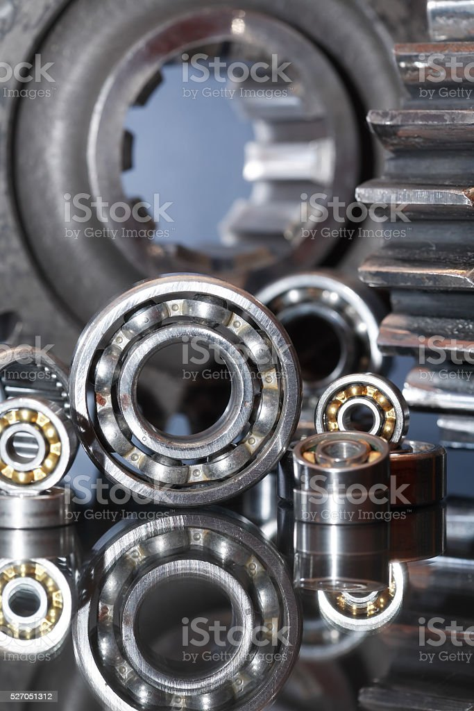 Ball Bearings And Gears stock photo