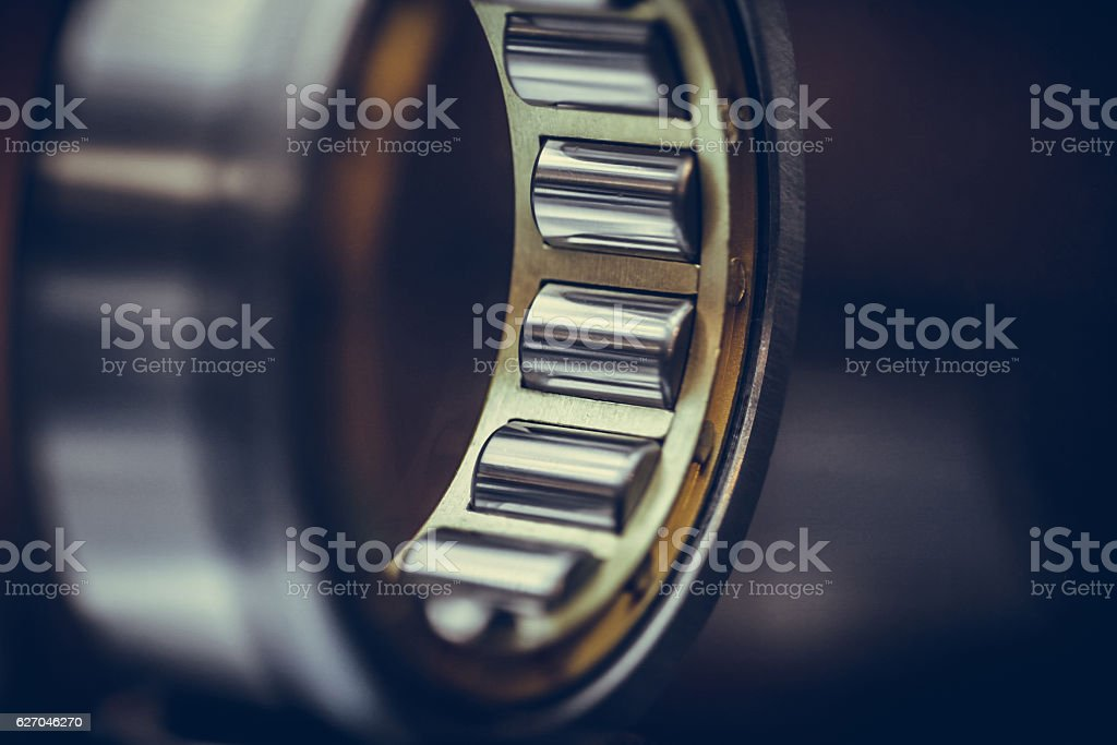 Ball bearings detail stock photo