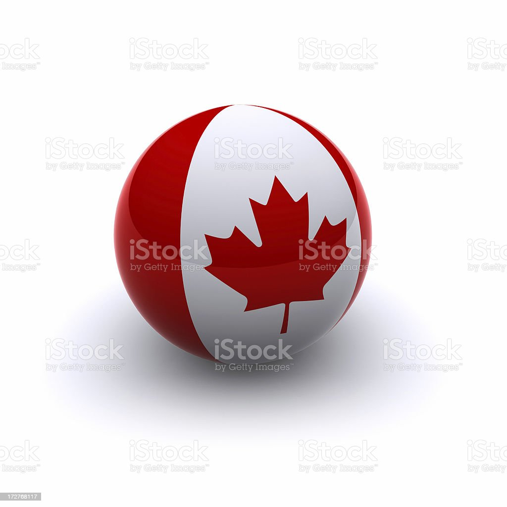3D Ball - Canada Flag stock photo