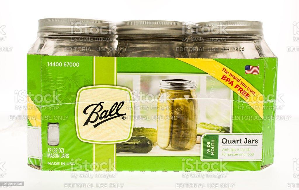 Ball Canning Jars stock photo