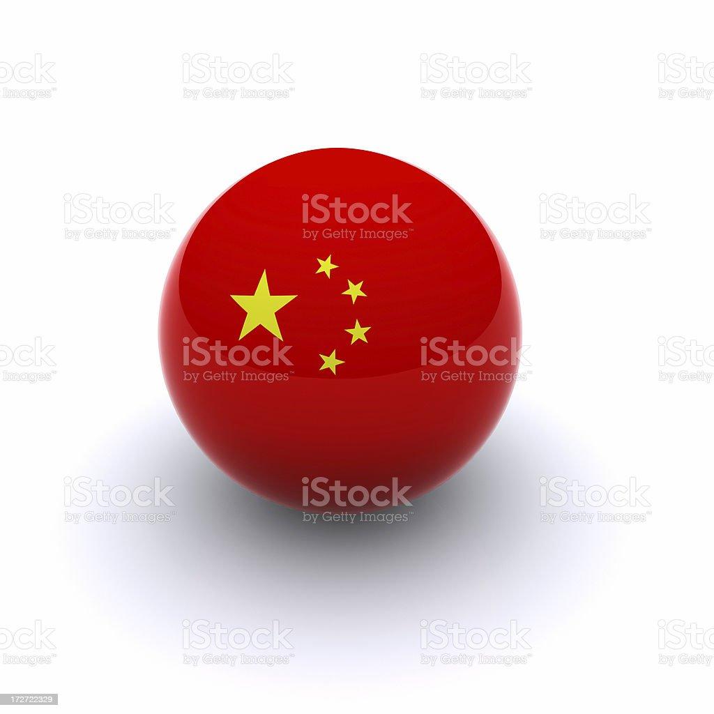 3D Ball - China Flag royalty-free stock photo