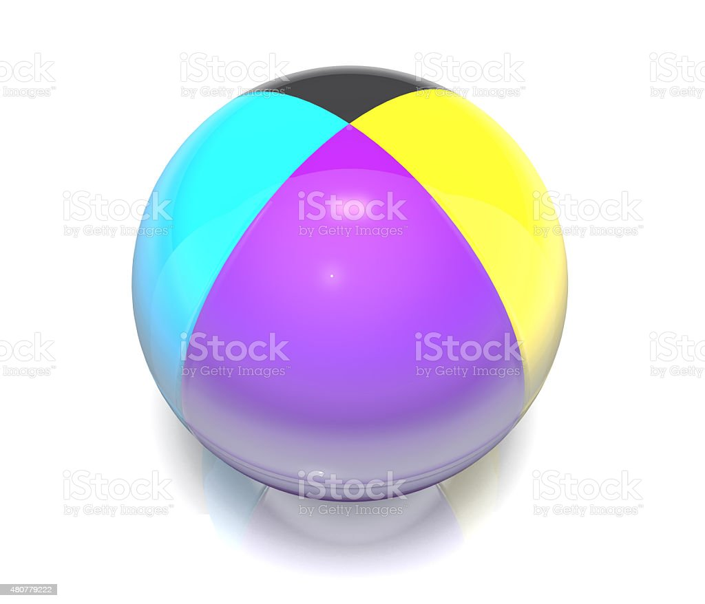 Ball, colored cmyk. stock photo