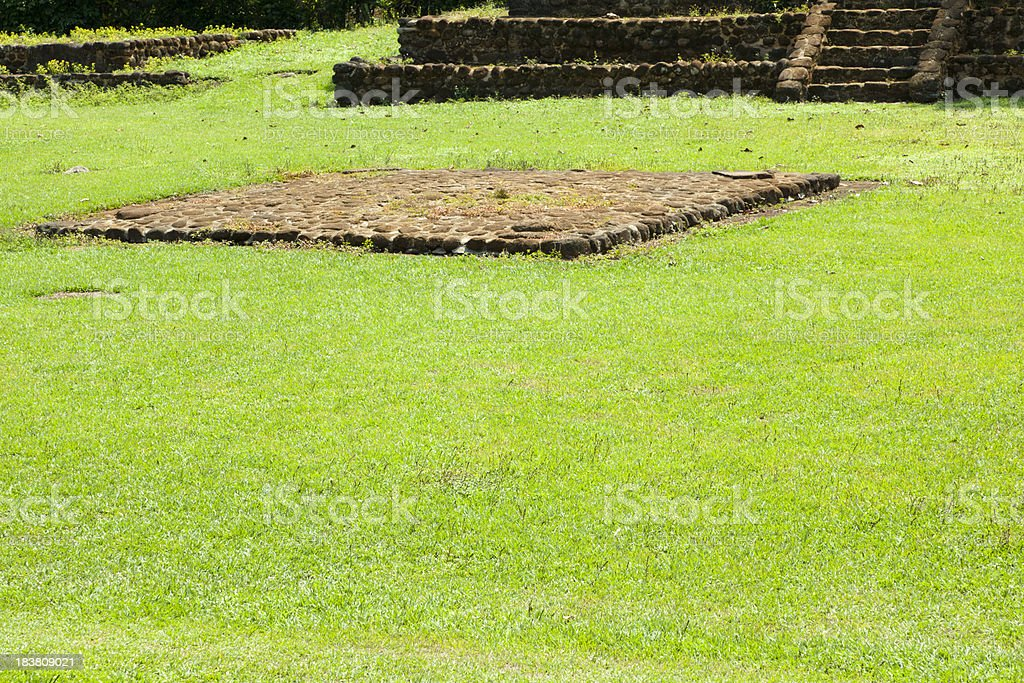 Ball Court, Izapa Archaelogical Site, Mexico royalty-free stock photo