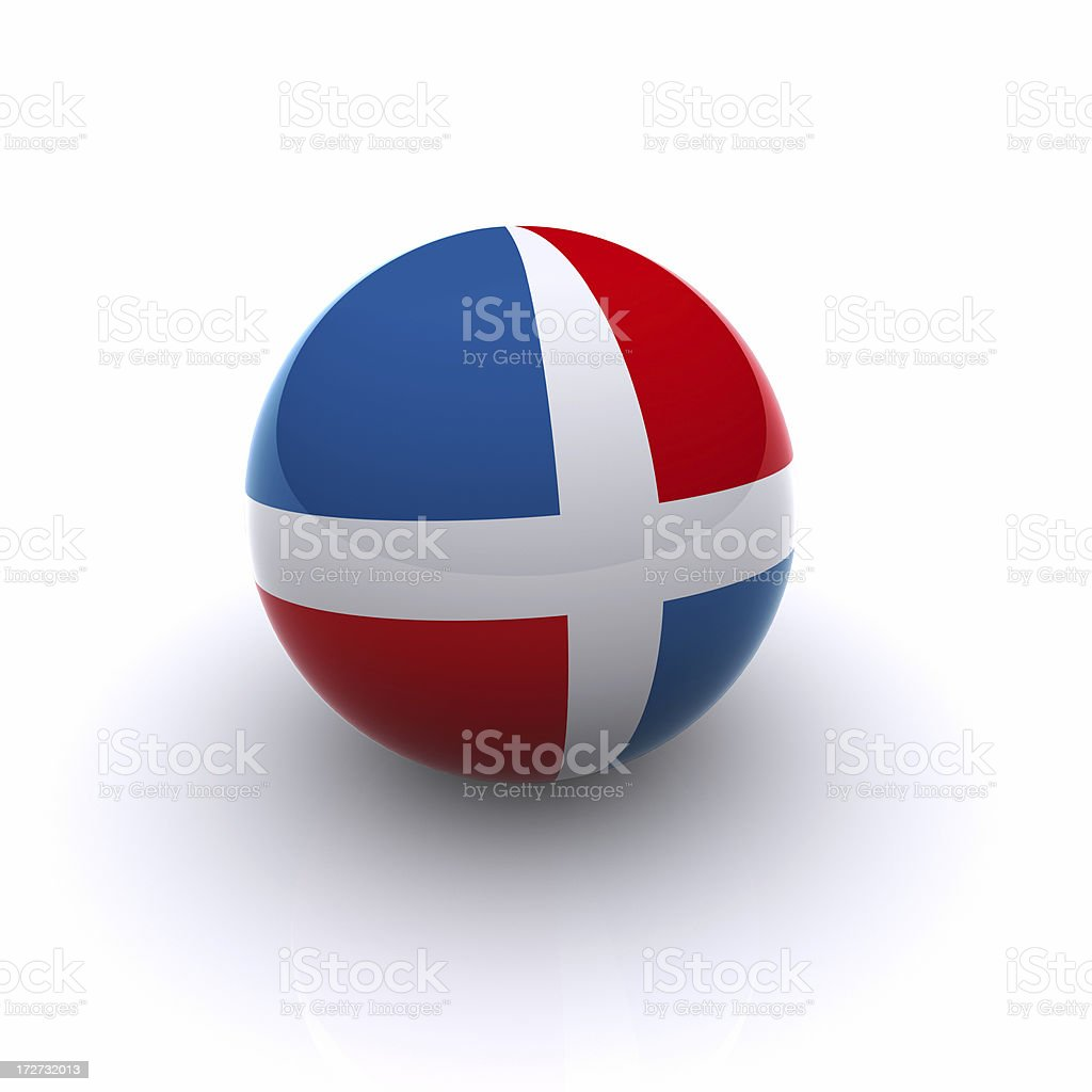 3D Ball - Dominican Republic Flag royalty-free stock photo