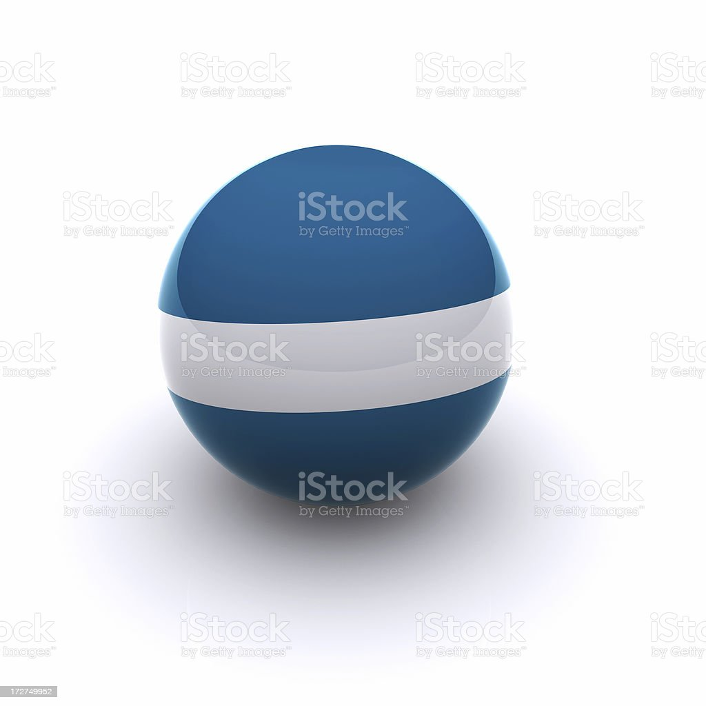 3D Ball - El Salvador Flag stock photo