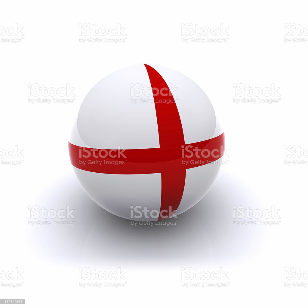 3D Ball - England Flag royalty-free stock photo