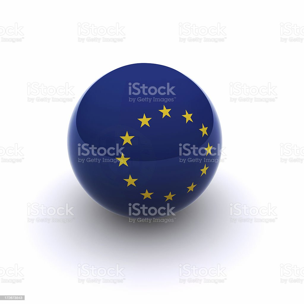 3D Ball - Europe Flag royalty-free stock photo