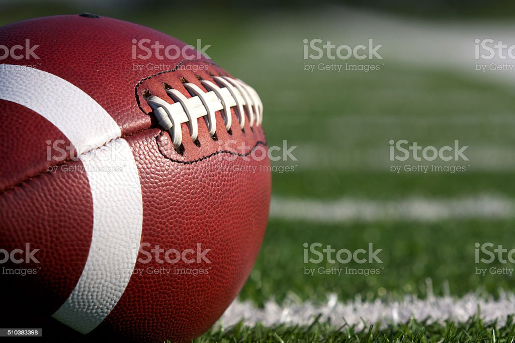 Ball for American football stock photo