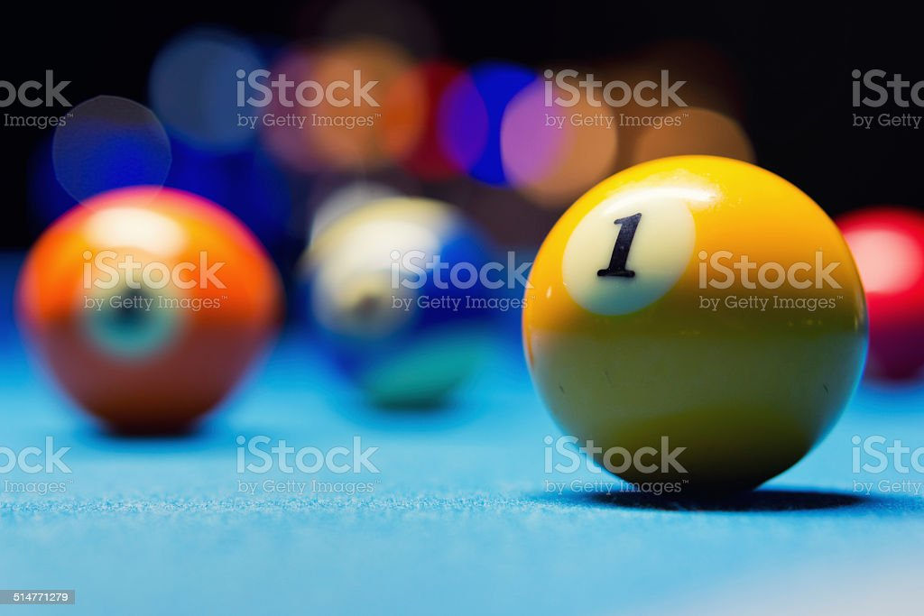 9 ball game stock photo