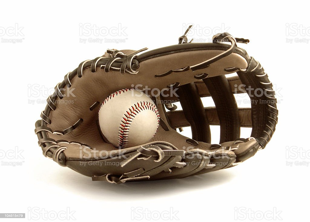 Ball & Glove royalty-free stock photo
