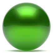 Ball green sphere geometric shape round button basic circle