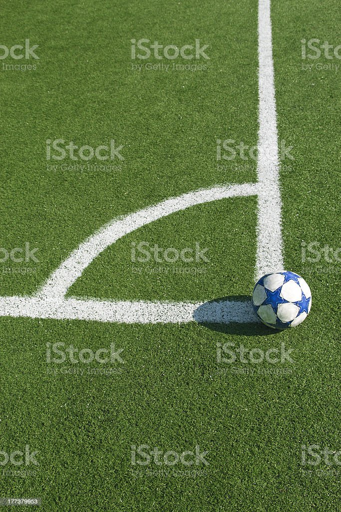 Ball In Grass Field royalty-free stock photo