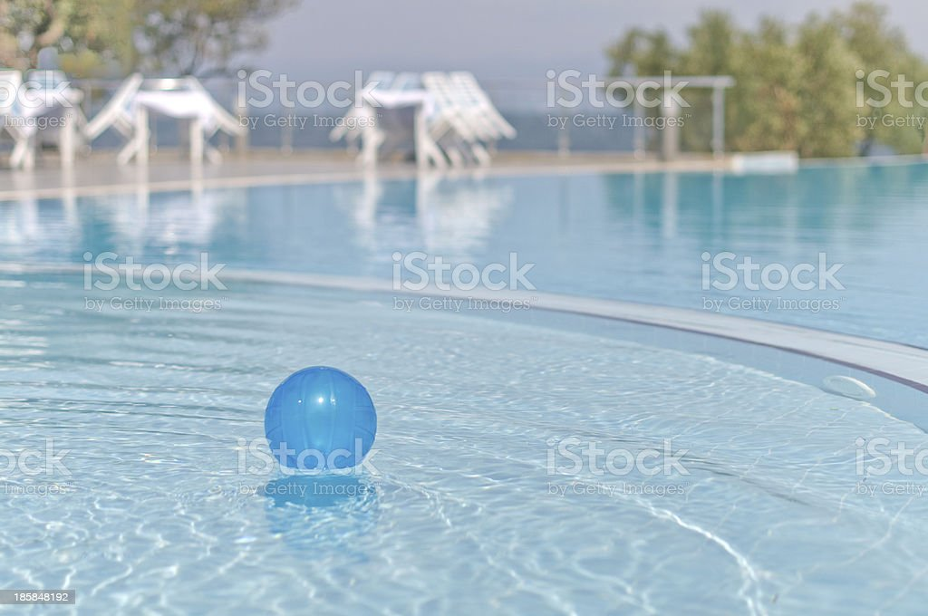 Ball in Swimming Pool royalty-free stock photo