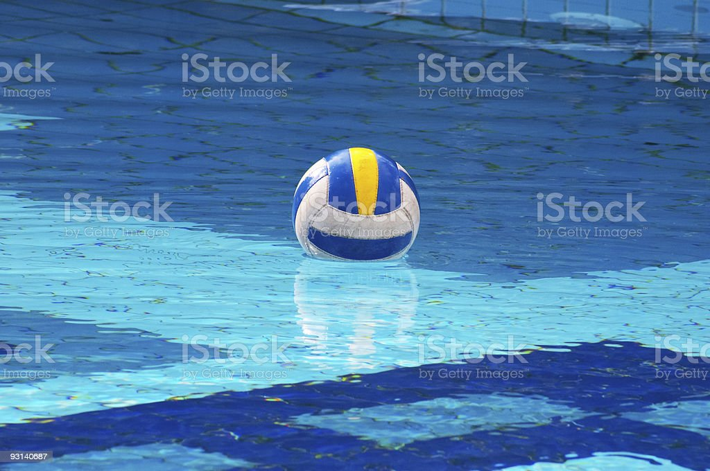 Ball in swimming-pool royalty-free stock photo