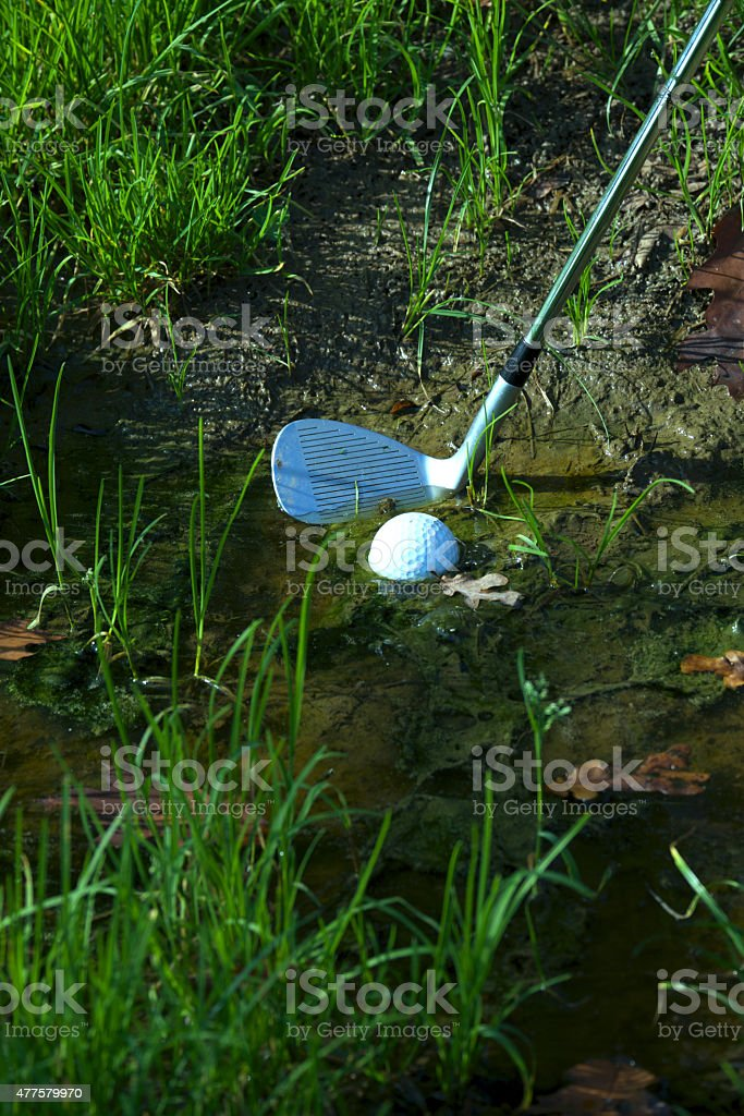 Ball in water stock photo
