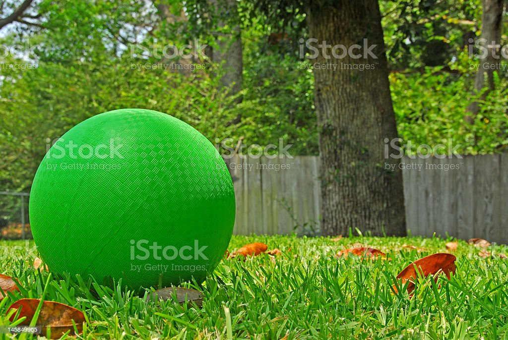 Ball in Yard stock photo