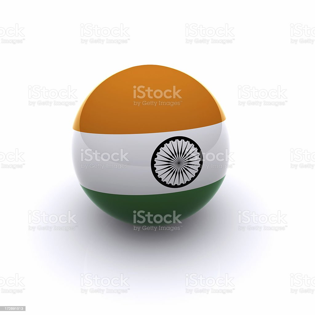 3D Ball - India Flag royalty-free stock photo