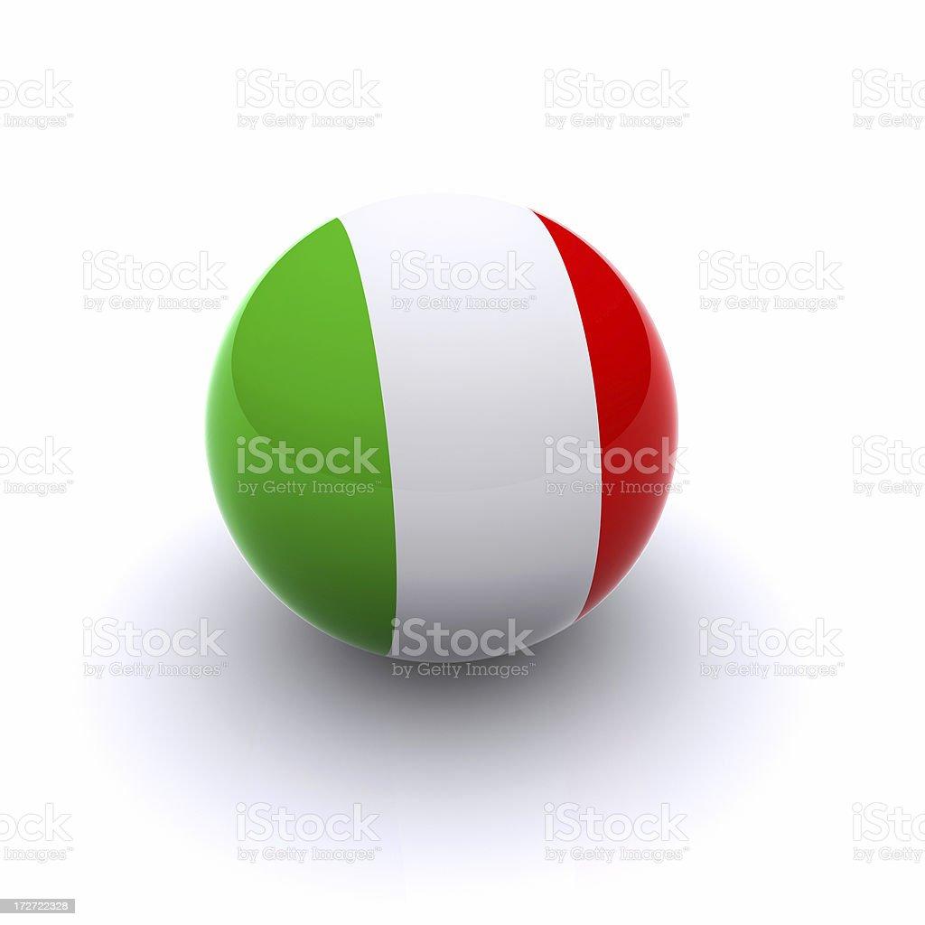 3D Ball - Italia Flag royalty-free stock photo