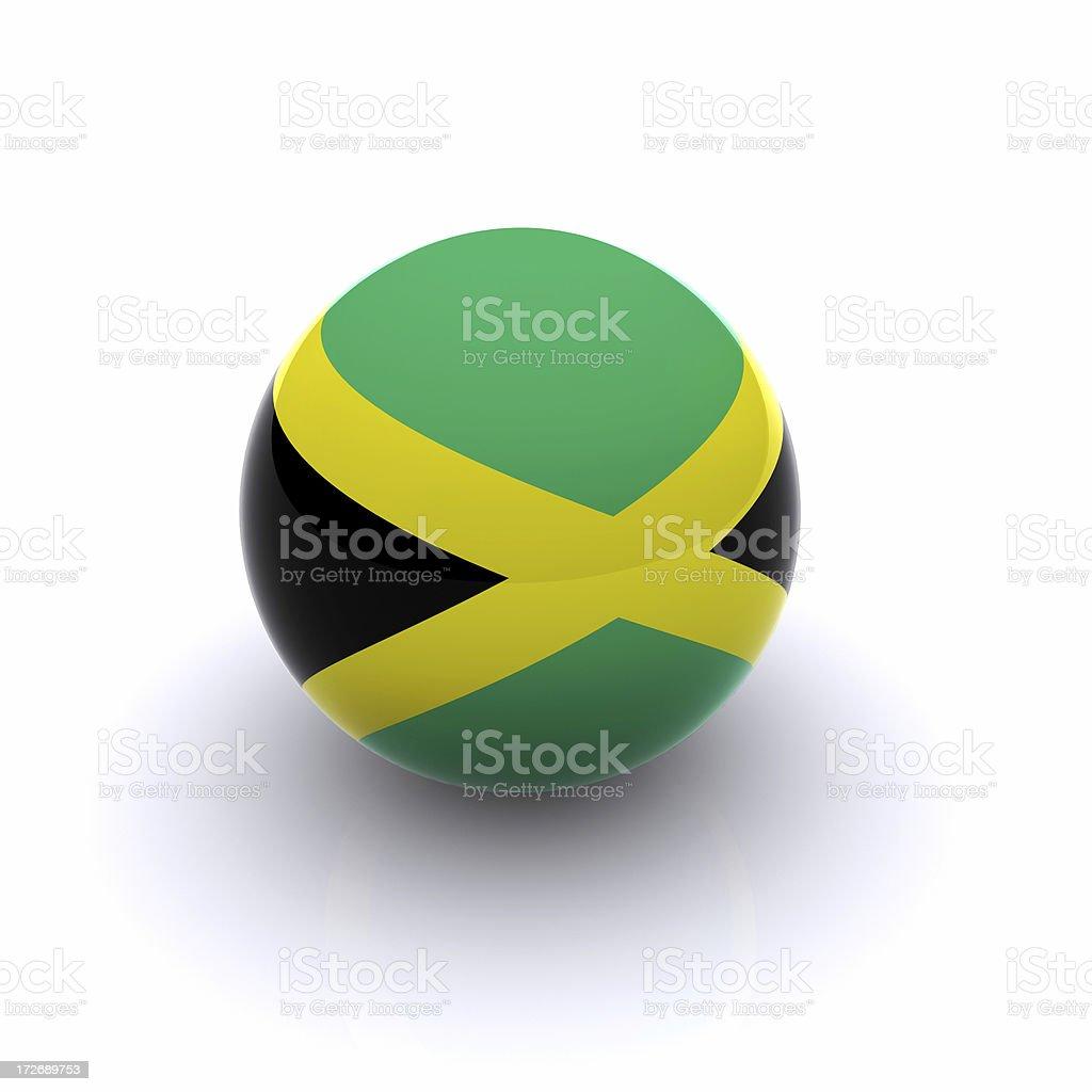 3D Ball - Jamaica Flag royalty-free stock photo