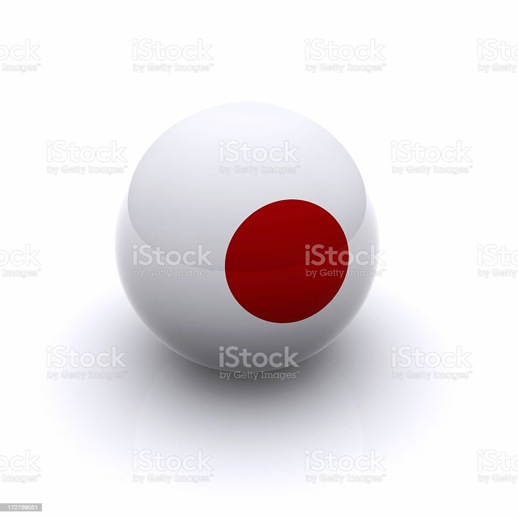 3D Ball - Japan Flag royalty-free stock photo