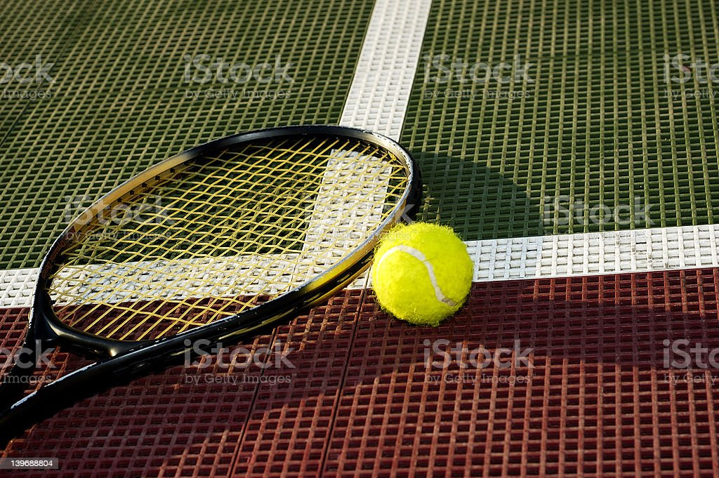 Ball Laying on the Baseline royalty-free stock photo