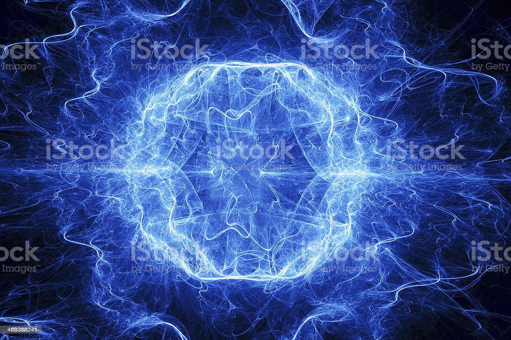 Ball lightning stock photo