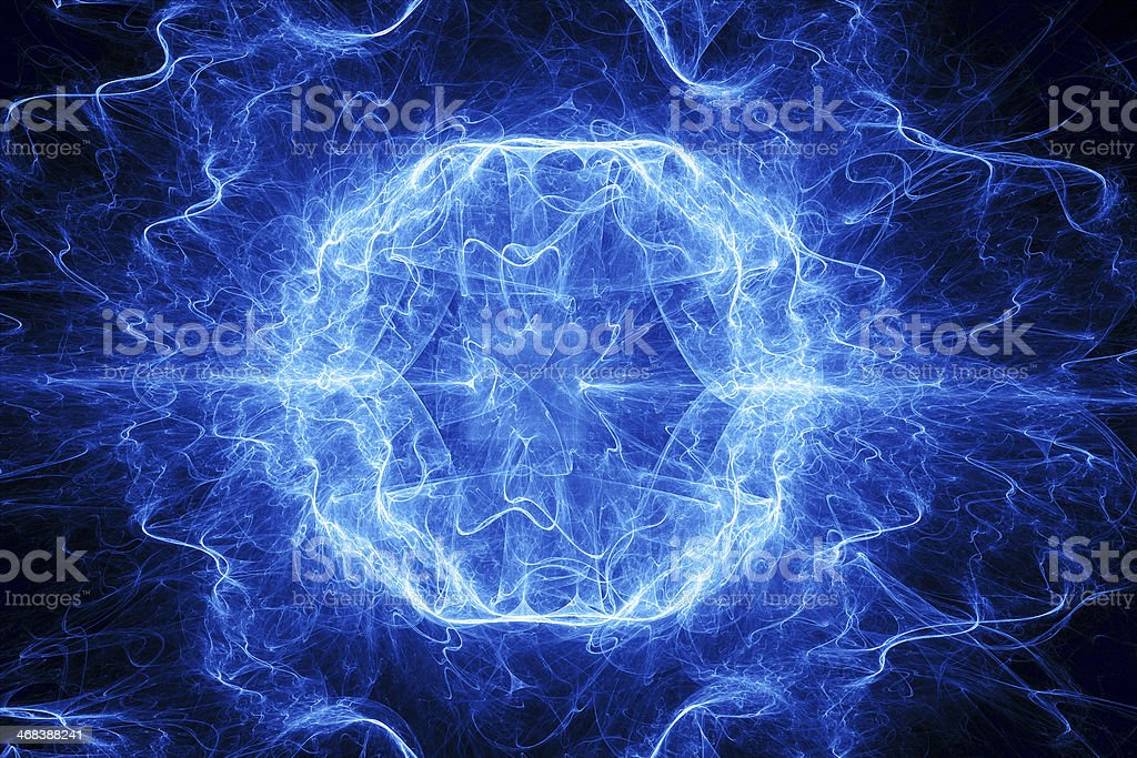 Ball lightning stock photo
