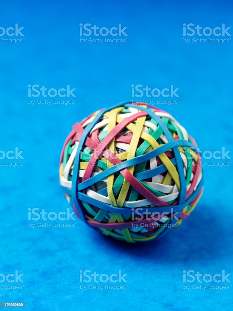 Ball made of Elastic Bands stock photo
