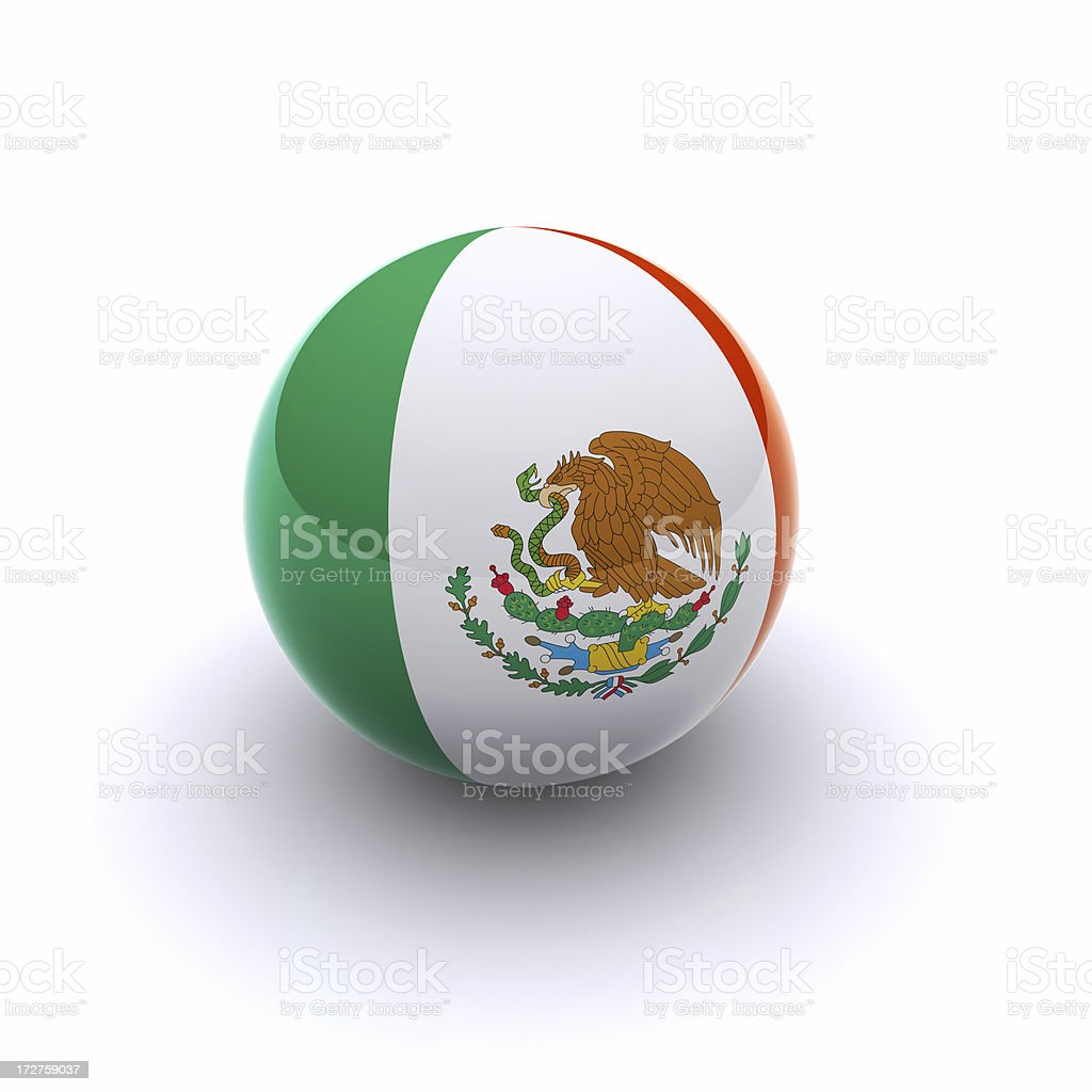 3D Ball - Mexico Flag royalty-free stock photo