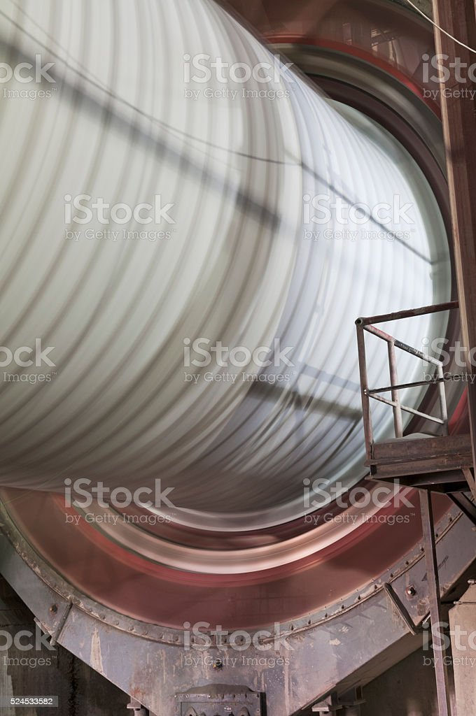 Ball Mill for Cement Grinding stock photo