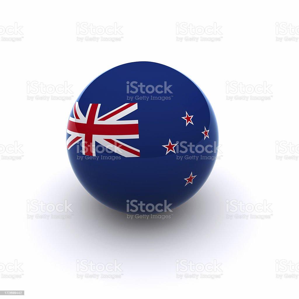 3D Ball - New Zealand Flag royalty-free stock photo