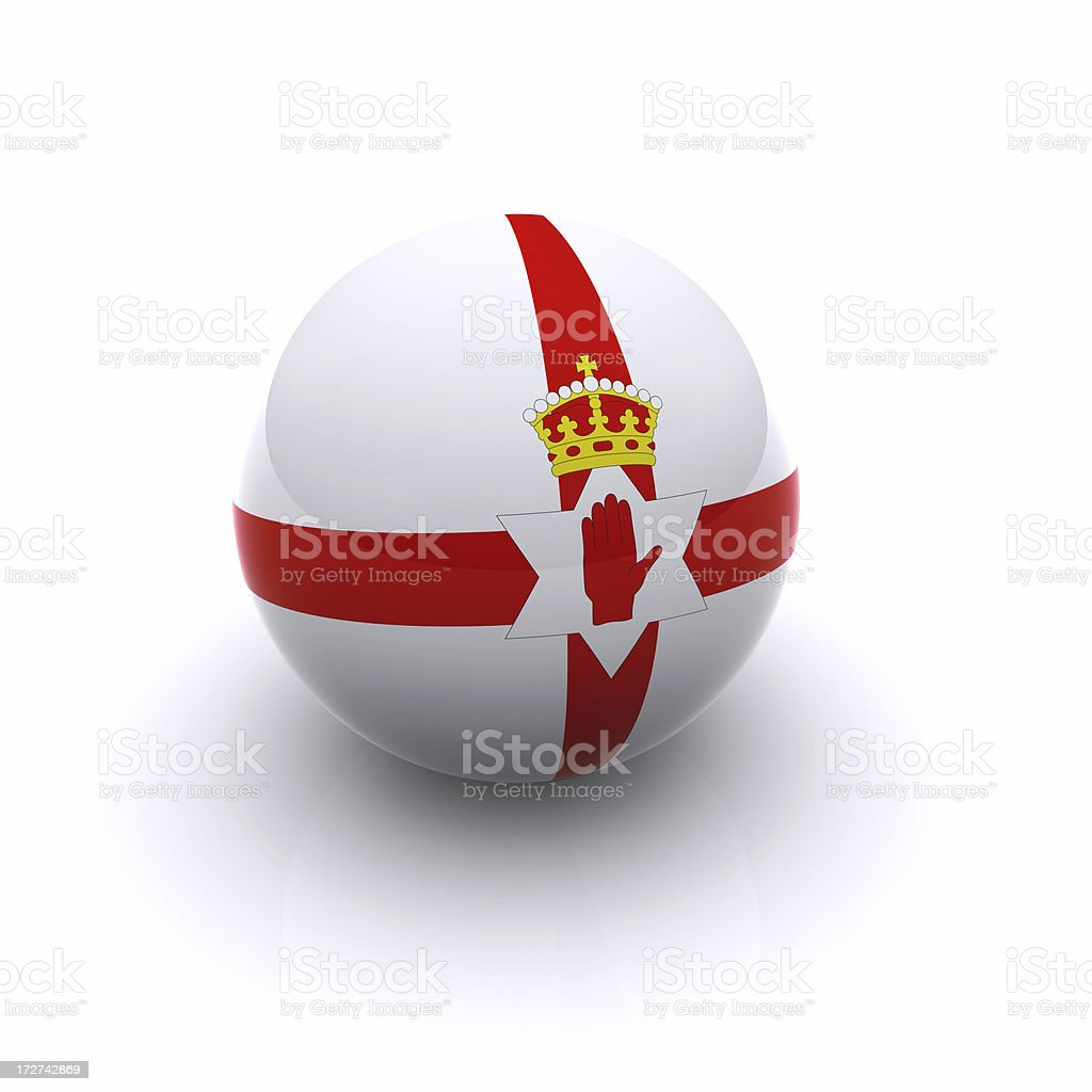 3D Ball - Northern Ireland Flag stock photo
